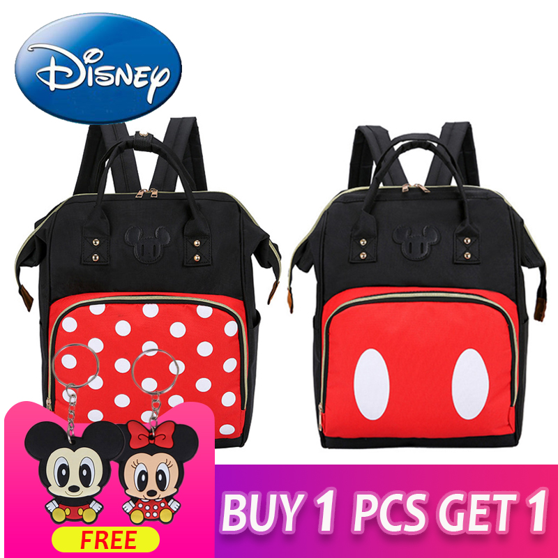 Disney 2018 New Waterproof Diaper Bags Large Capacity Travel Backpack Mom  Maternity Nappy Bag Storage Hanging d60f4ecfce849