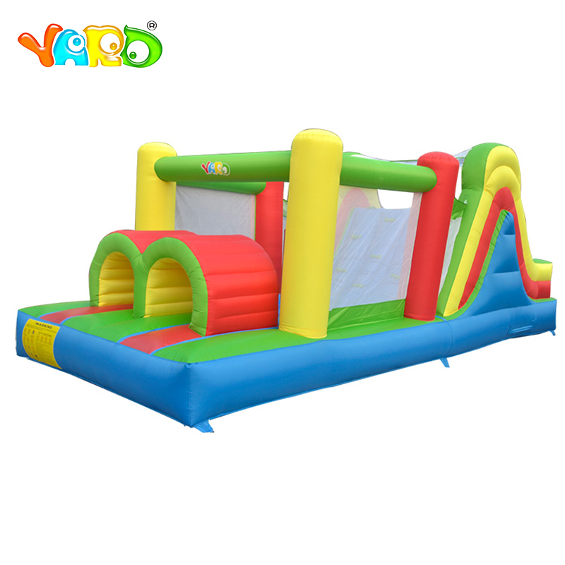 YARD 5 in 1 Bounce House Bouncy Castle Outdoor Backyard Inflatable Obstacle Course Bouncer for Kids Play all in 1 combo sports games inflatable bouncing castle house obstacle course for kids fun