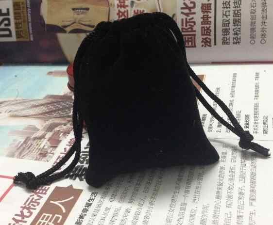 2piece special sale black velvet bag custom 7*9cm jewelry bag small gift pouch jewelry storage bag
