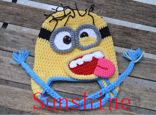 Despicable Me 2 Minion Hat Crochet Cartoon Character Cap Newborn