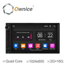 Ownice 2 DIN Android 5.1 4 ядра Универсальный Автомобильный Радио DVD GPS Navi 2 г RAM/16 г ROM Поддержка Bluetooth 3 г DVR Камера Wi-Fi нет DVD