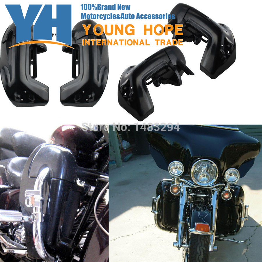 Motorcycle Leg Fairings Kit Lower Vented Leg Protector Decorative Fairing Fits fits for Harley Touring Road King Electra Glide F цена и фото