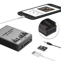 USB SD AUX Car MP3 Music CD Changer Adapter For Peugeot 307 407 Citroen C4 C5