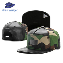 Brand C&S BL PLATED CAP camouflage leather brim snapback hat for men women adult sports hip hop street outdoor sun baseball cap