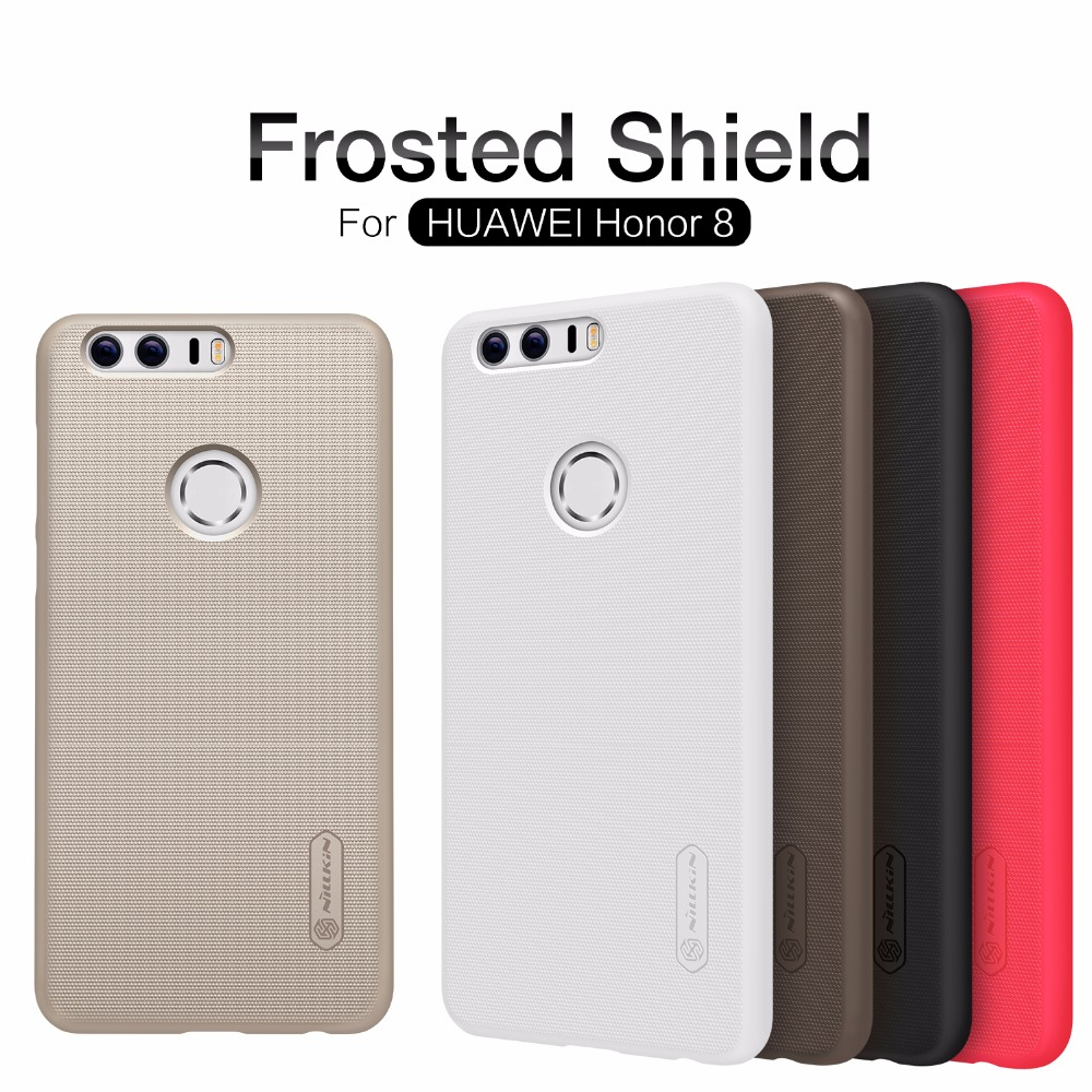 Original Nilkin Super Frosted Shield Hard PC Back Hard Cover Case for Huawei Honor 8 Nillkin Phone Case + Screen Protector