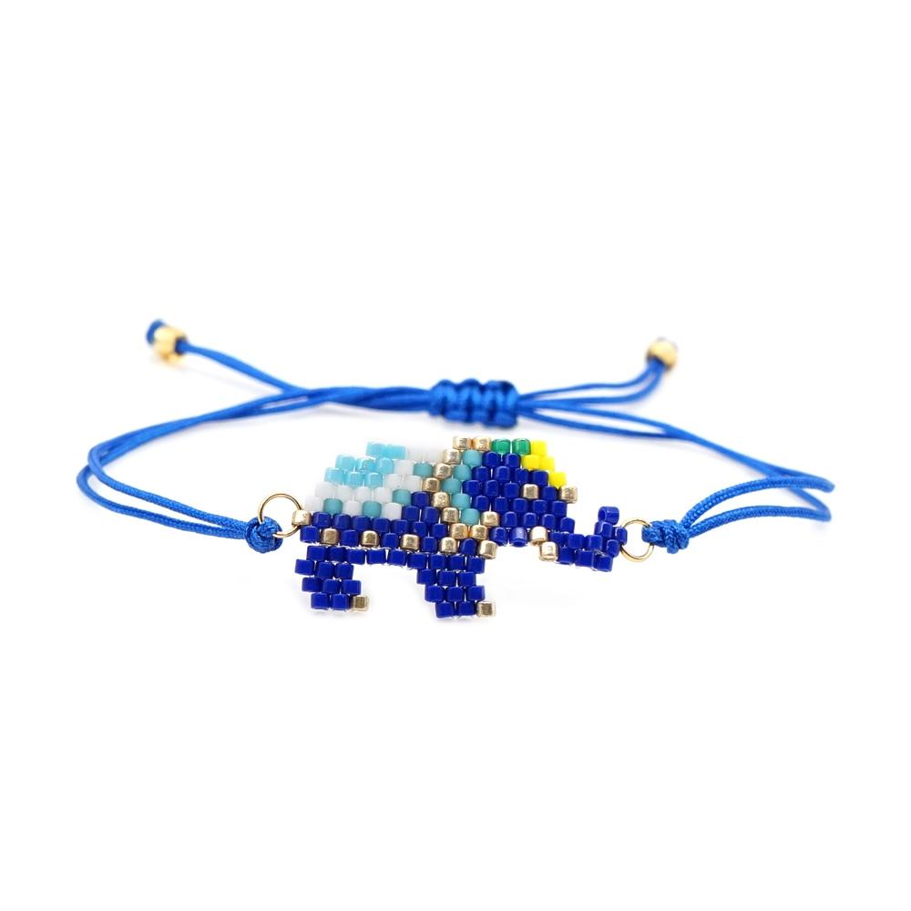 Go2boho Bracelet Perles MIYUKI Blue Elephant Pulseras Women Gift Jewelry Children Animal Bracelets Bohemian Handmade Beadweaving