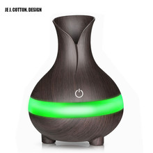 7Color LED Lamp Portable Air Humidifier USB Wood Grain Aromatherapy Essential Oil Aroma Diffuser Ultrasonic 300ML Humidifier home use portable 300ml light wood grain ultrasonic humidification aroma essential oil diffuser chern aromatherapy humidifier