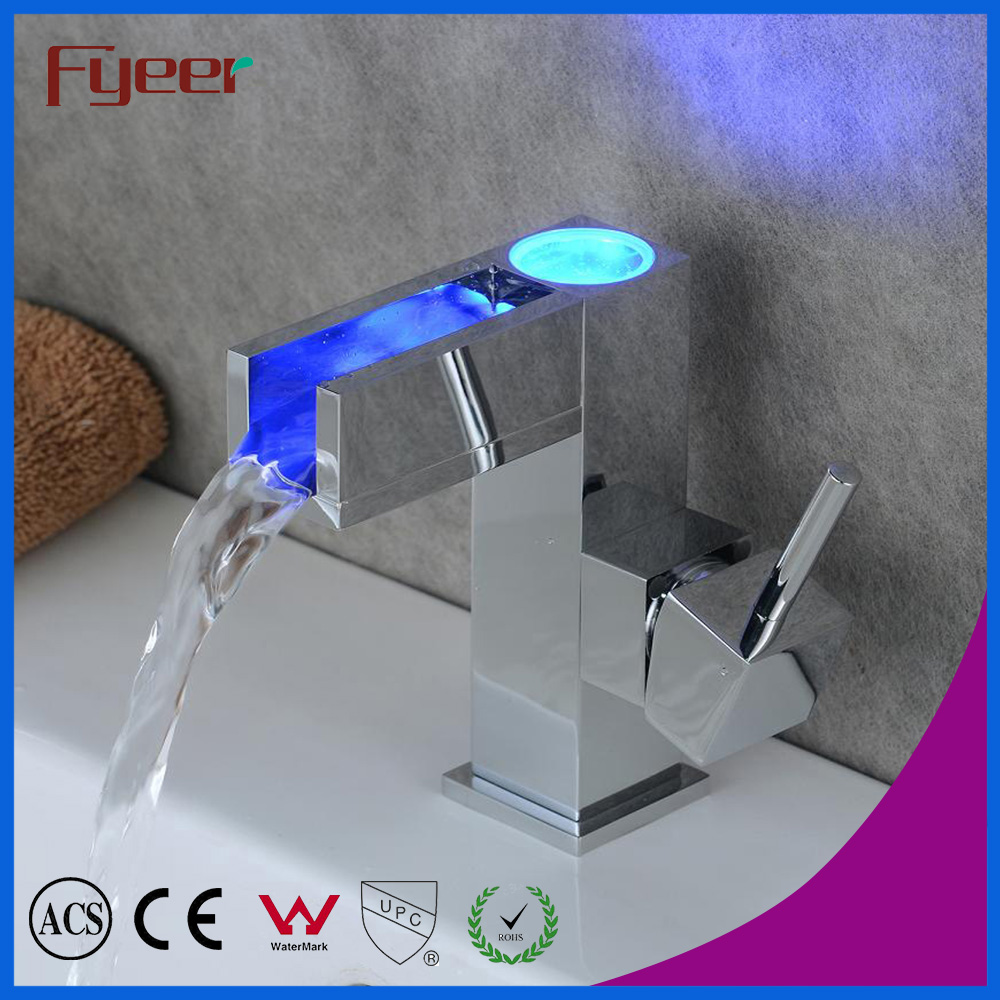 ФОТО Free Shipping Hot Sale Factory Price Cheap Waterfall Self-power Led Basin Faucet Bathroom Sink Tap Mixer Robinet