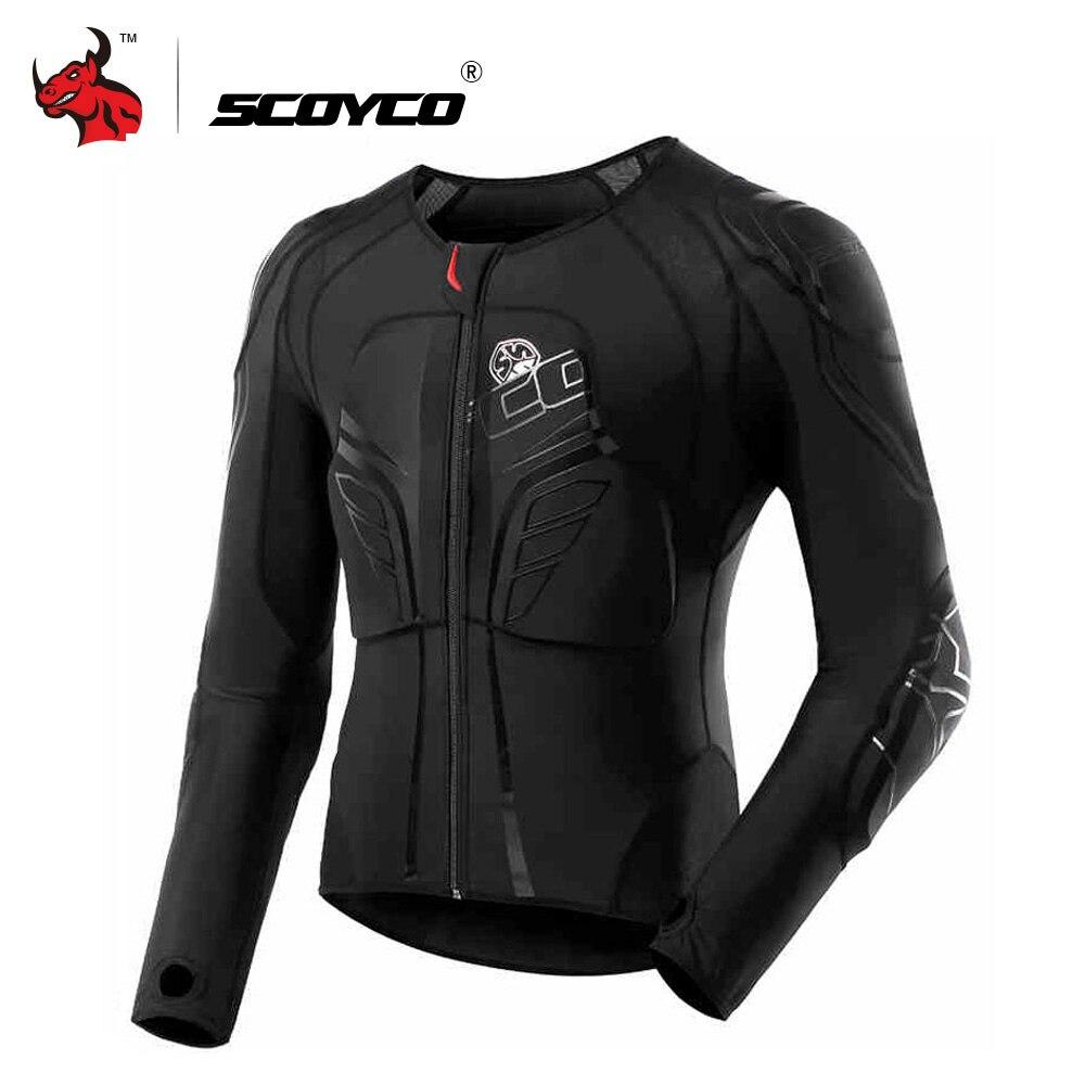 SCOYCO мотоциклетная куртка Мотокросс защита защитное снаряжение броня для мотокросса гоночный корпус Броня Мото куртка черный мото Броня