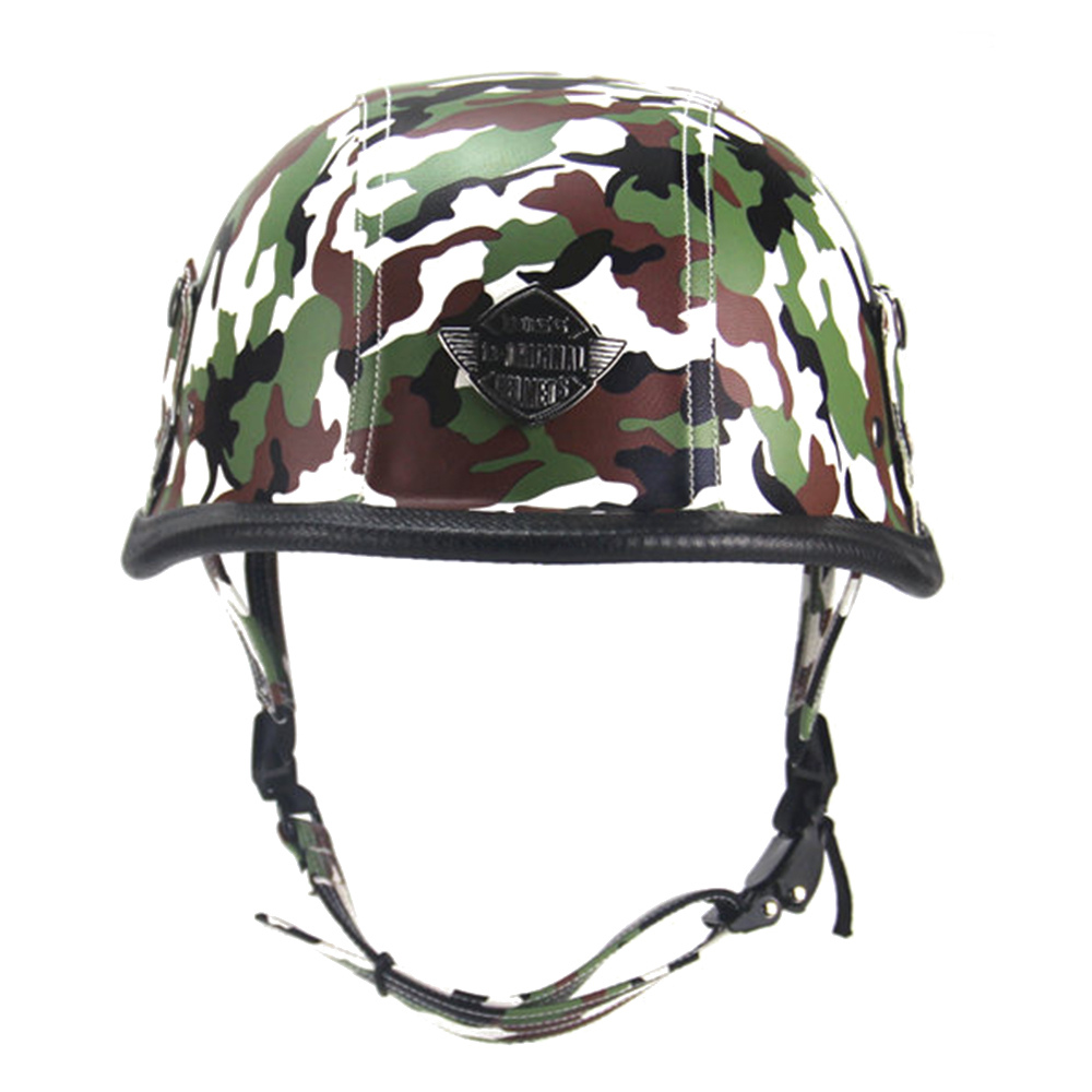 New Motorcycle Helmet German Retro Vintage Style Camouflage Open Face Half Cruiser Chopper Cafe Racer Casco Moto In Helmets From Automobiles