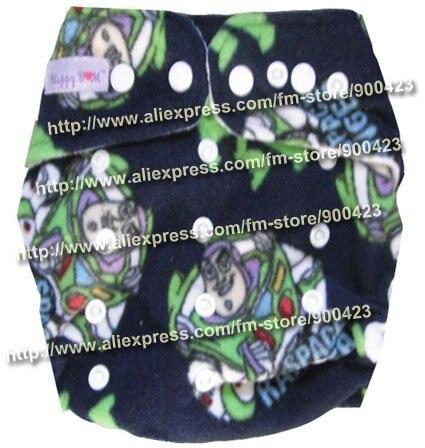 Моющиеся детские подгузники 10 шт. тканевые подгузники+ 10 шт. вставки подходят 4-17 кг - Цвет: Robot
