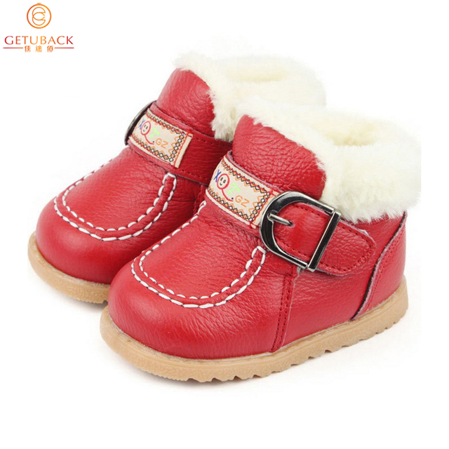 2016 New Winter Baby Thermal Shoes  Fur Infantile Warm First Walkers Toddler Leather Shoes Boy & Girl Moccasins, HJ017