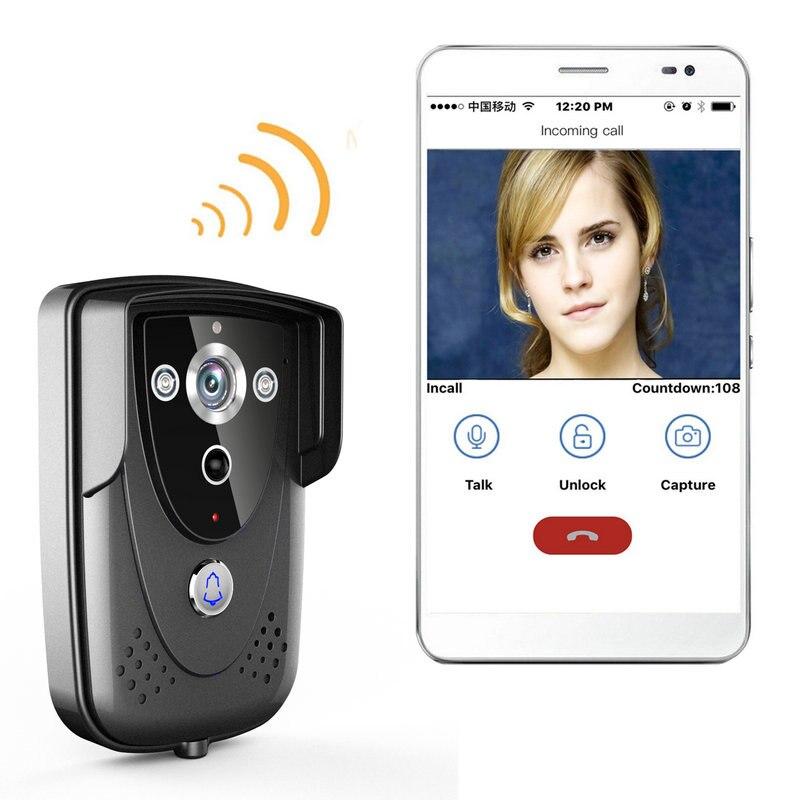 Mountainone WI-FI Wireless Video Door Phone Doorbell  Intercom With Night Vision Waterproof  IP55 Free Shipping Wifi Doorbell