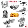 Nuevo metal 3d puzzles de star wars 7 diy juguete modelo r2d2 bb8 Tie Xwing Lct_001 Fighter Halcón Milenario de Los Niños Rompecabezas de Juguetes para Adultos