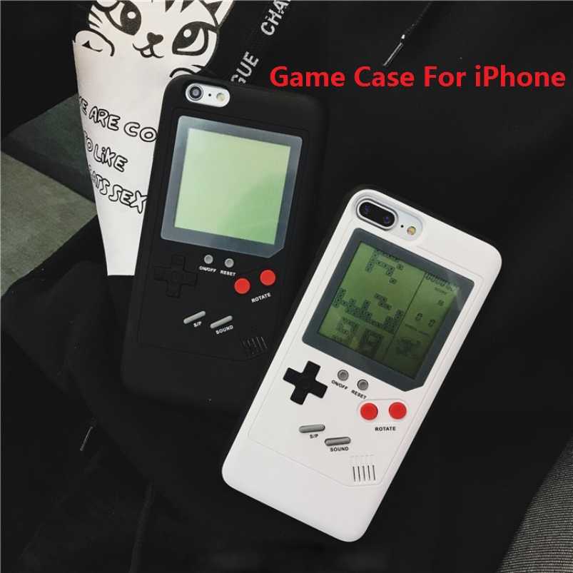 Gameboy Tetris Ninetendo Phone Cases for iPhone 7 8 X Play Blokus Game Console Protectio ...