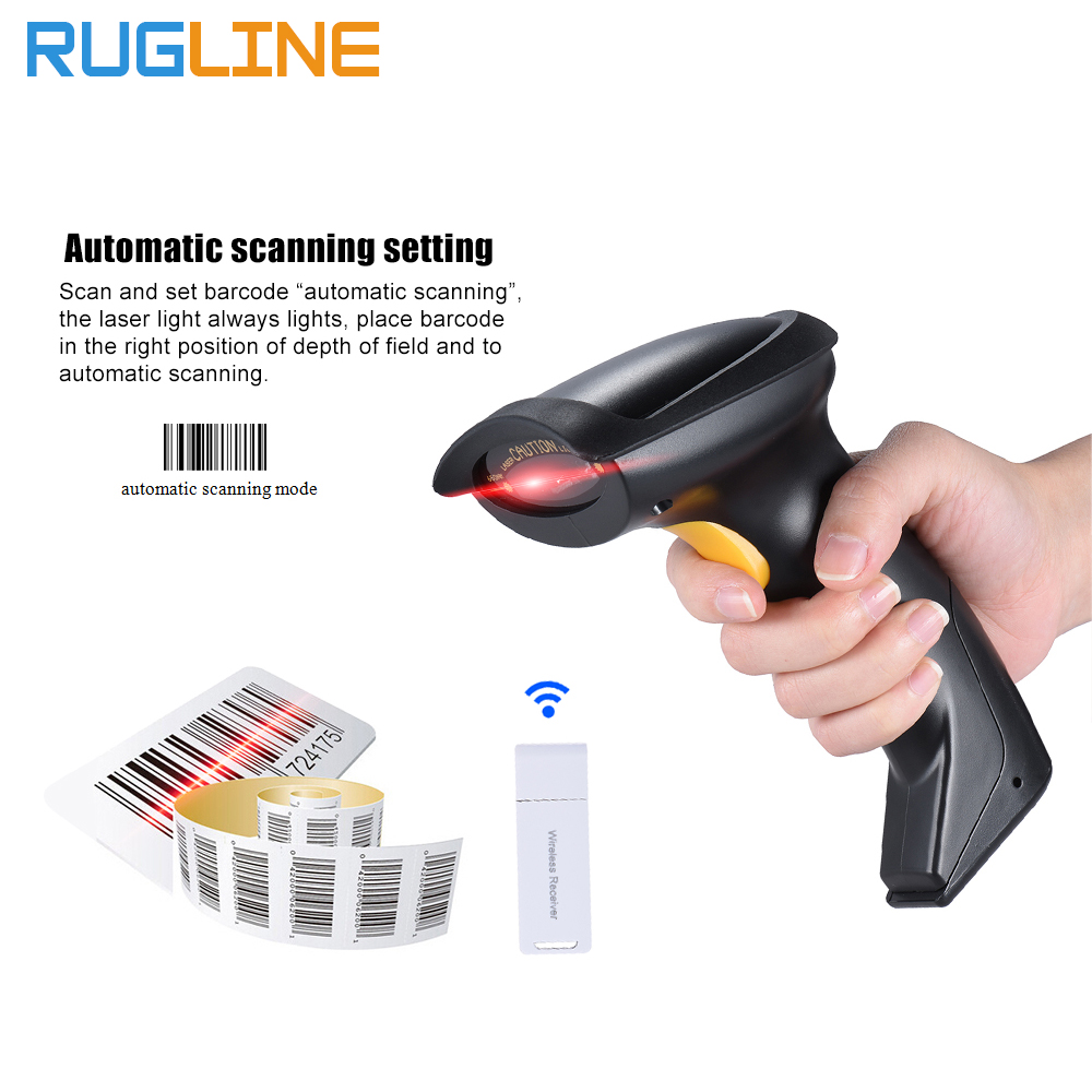 Free Shipping Wireless bar Code Reader 2.4G 10m Laser Wireless/Wired Automatic/ Manual barcode scanner for Windows CE Tablet wireless barcode scanner bar code reader 2 4g 10m laser barcode scanner wireless wired for windows ce blueskysea free shipping