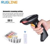 Freies Verschiffen Drahtlose bar Code Reader 2 4g 10 mt Laser Drahtlose/Verdrahtete Automatische/Manuelle barcode scanner für windows CE Tablet