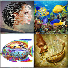 Fantasy Koi Fish 5D DIY Diamond Painting Embroidery Mosaic Animals Full Square Drill Kits Home Wall Decorations Cross Stitch