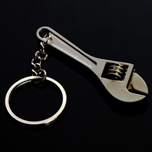 Cute Keychains Metal Adjustable Tool Wrench Spanner Keyrings Creative Gift