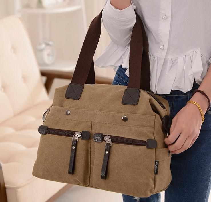 Casual women canvas zipper designer clutch tote large handbags shoulder messenger bags female travel bag bolsas femininas 45 aosbos fashion portable insulated canvas lunch bag thermal food picnic lunch bags for women kids men cooler lunch box bag tote