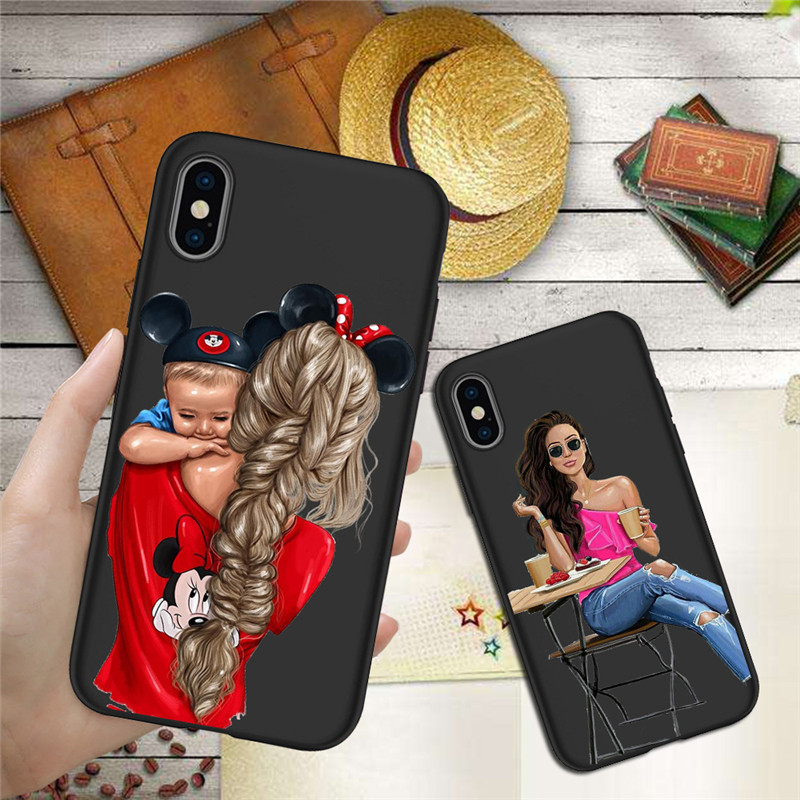Woman Girl mom For iPhone X XR XS Max 5 5S SE 6 6S font b