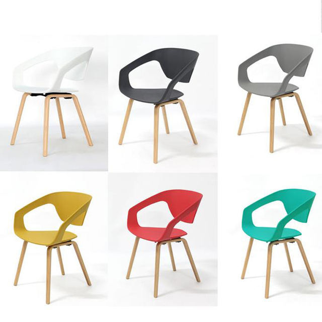 Fashion dining chair With armrests office ,bar chairs living room furnitrue,wood furniture,wood+Plasti Coffee chair