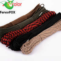 100 colors Paracord 550 Paracord Parachute Cord Lanyard Rope Mil Spec Type III 7Strand 100FT Climbing Camping survival equipment