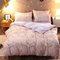 Licht Roze Pastorale Bloemen Witte Lelie Katoen-zoals 4 Stks Twin/Full/Queen/Kingsize Bed linnen Quilt/Dekbed/Doona Cover Set & Sheet