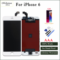 Mobymax LCD For IPhone 4 6 6plus LCD Display Touch Glass Screen Replacement In Black White