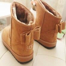 ผู้หญิงรองเท้าลำลอง2016ใหม่มาถึงแฟชั่นแฟลตข้อเท้าผู้หญิงในช่วงฤดูหนาวรองเท้าbowtieรองเท้า