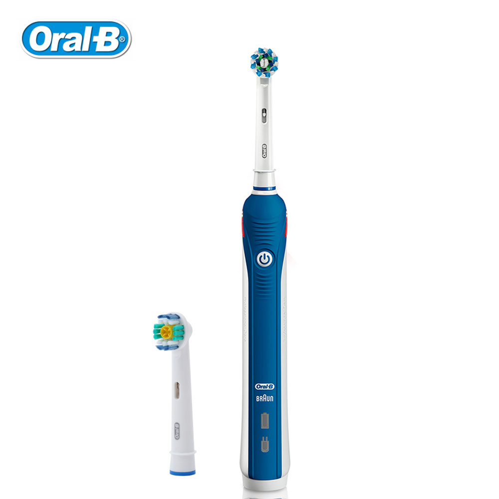 Oral B Rechargeable Electric Toothbrush Tooth Whitening Gum Care Stain Removing Adult Teeth Brush Waterproof 3D Rotation Brush image