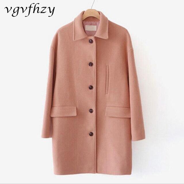 847bfe196c9 Женское кашемировое пальто 2017 новое шерстяное пальто Женская куртка  зимнее пальто однотонная одежда шерстяное пальто женское