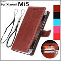 Xiaomi Mi5 Pro card holder cover case for Xiaomi Mi5 Miui5 leather phone case wallet flip cover Quality Holster capa fundas