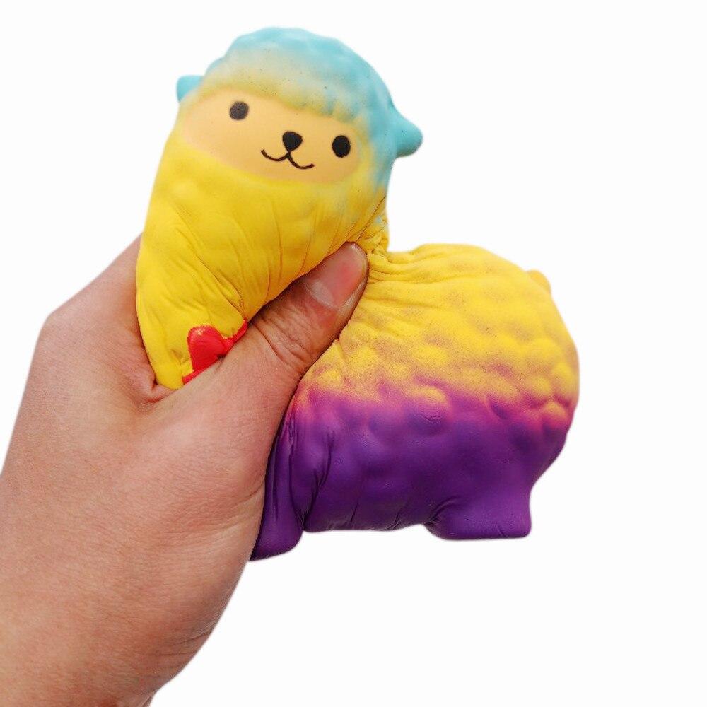 MUQGEW Jumbo Sheep Squishy Cute Stress Relieve Gift Alpaca Super Slow Rising Scented Fun Animal Toys Speelgoed Voor Kinderen ga1