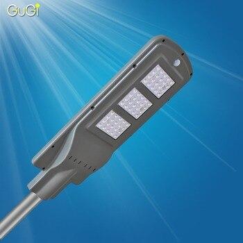 GUGI Solare Sensore di Luce Led Luce di Via del Led Con Sensore di Movimento Impermeabile 60 W Ha Condotto La luce Solare del Giardino Ha Condotto la Lampada palo Della Luce Piazza