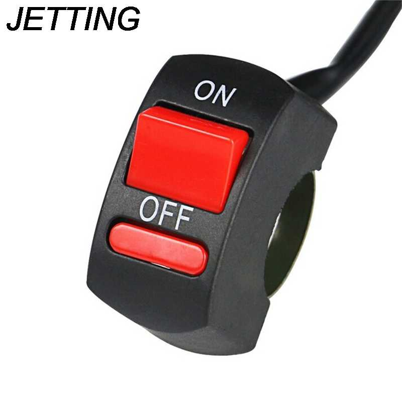Jetting Motor Switch Tombol On-Off LED Angel Eyes Lampu Universal Stang