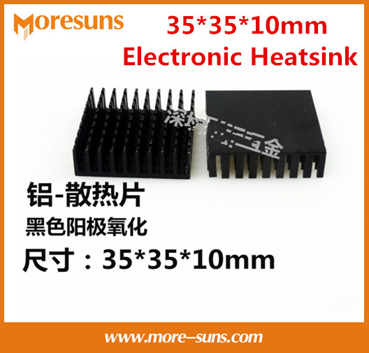 Fast Free Ship 50pcs Electronic Radiator 35*35*10mm Electronic Heatsink Chip Cooling Block