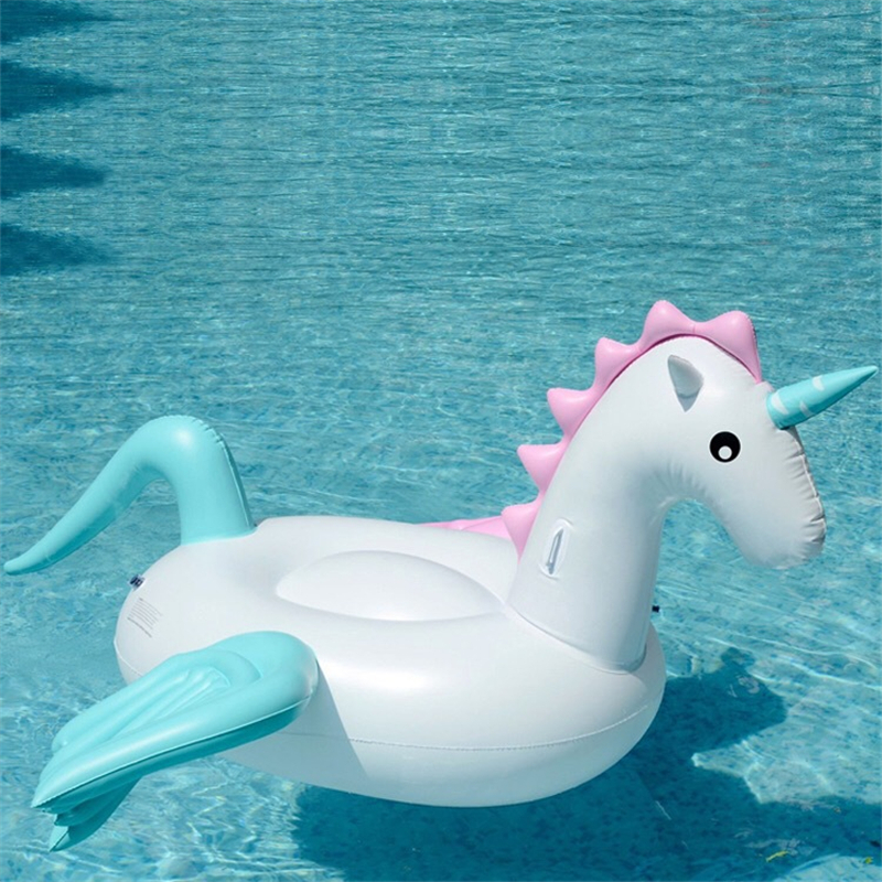 Pool Float Inflatable Boat Unicorn Swimming Float Swan Adult Tube Raft Kid Swim Air Mattresses Ring Summer Water Toy inflatable giant pegasus floating rideable swimming pool toy float raft floating row white swan floating row for holiday water