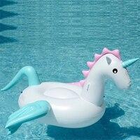 Pool Float Inflatable Boat Unicorn Swimming Float Swan Adult Tube Raft Kid Swim Air Mattresses Ring Summer Water Toy
