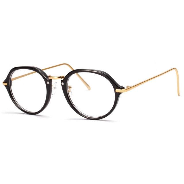 166f089f06 New round optical frames glasses men metal frames clear lenses women  computer eyeglasses vintage gold black matte black brown