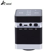 Адин Портативный металла Беспроводной Bluetooth вибрации Динамик громкой связи стерео 3D Hi-Fi Surround громкий Динамик для смартфонов PC MP3 MP4