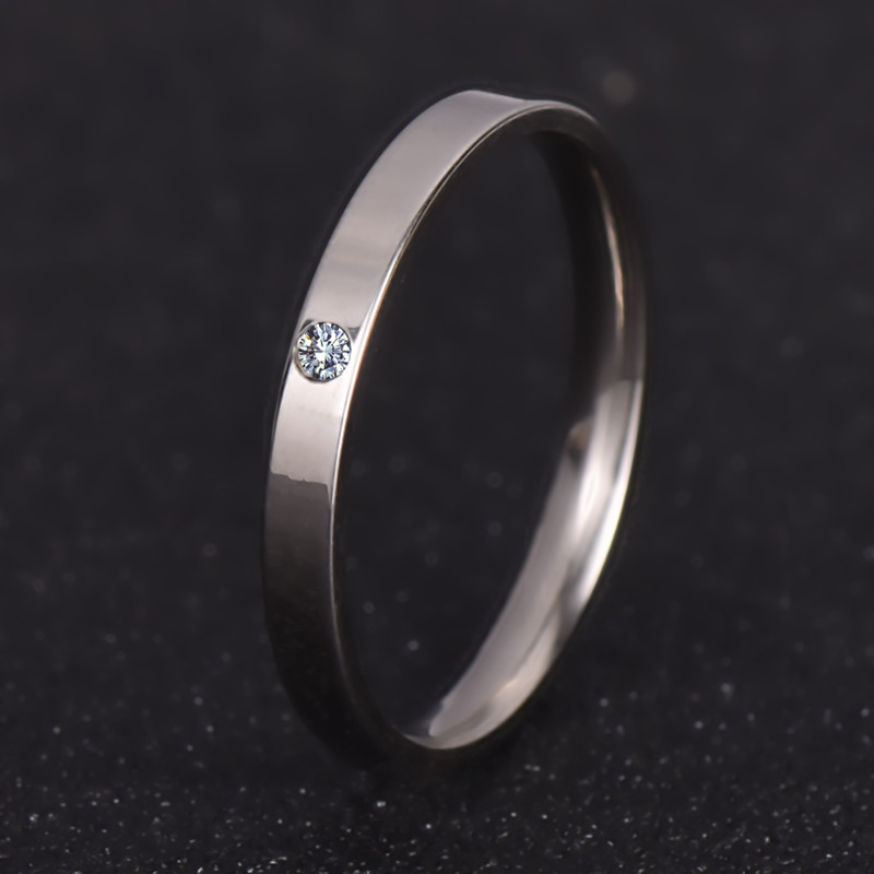 wedding ring for women or man eternity love 316l stainless steel rings
