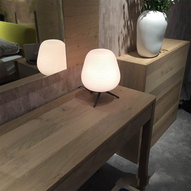 Nordique contracté vis verre lampe de Table chambre contemporaine créative décorative étude maison hôtel chevet Led E27 lampe de bureau - 4
