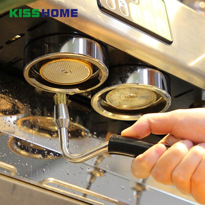 Półautomatyczny ekspres do kawy szczotka do czyszczenia Grouphead wysokiego ciśnienia pary szczotki profesjonalne młynek do kawy akcesoria do czyszczenia