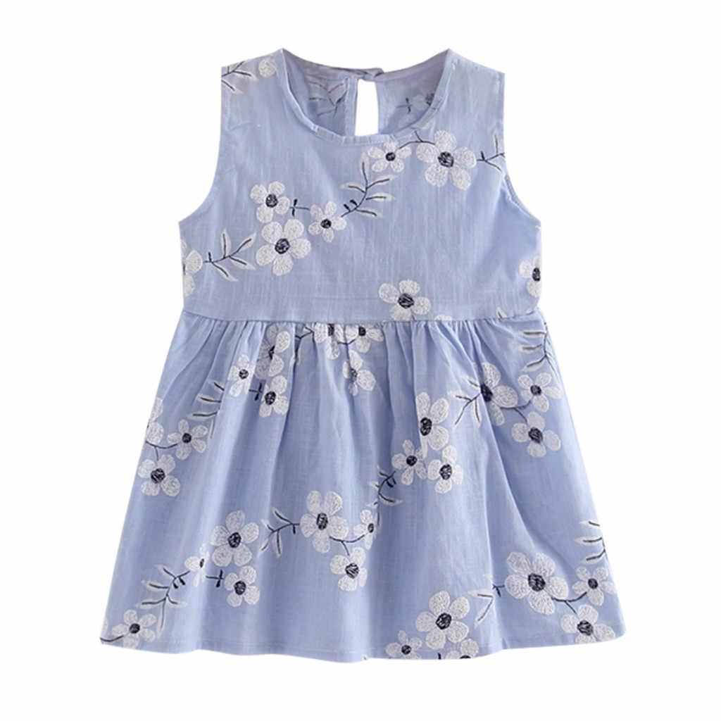 ARLONEET/Новинка 2019 года; летнее платье для младенцев; летнее платье принцессы для маленьких девочек; Детские вечерние платья без рукавов для свадьбы; Z0207
