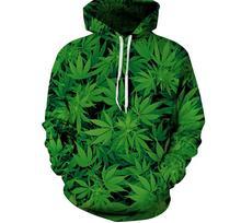 S-XXXL толстовки мужчины женщины спортивные костюмы 3D печати зеленые листья толстовка повседневная толстовка топы с карманами Плюс размер