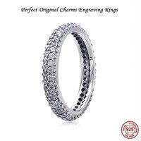 Perfekte Original logo Chrams Ring Eingraviert valentinstag geschenke frauen Schmuck für frauen vintage stil,