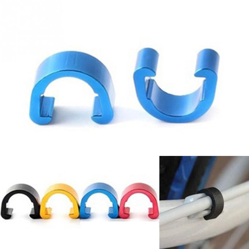 10Pcs MTB Bike Bicycle Frame C Buckle for Brake Cable Housing Hose Tube Shifter Cable Guides Button Fixed Tubing Clips c SS