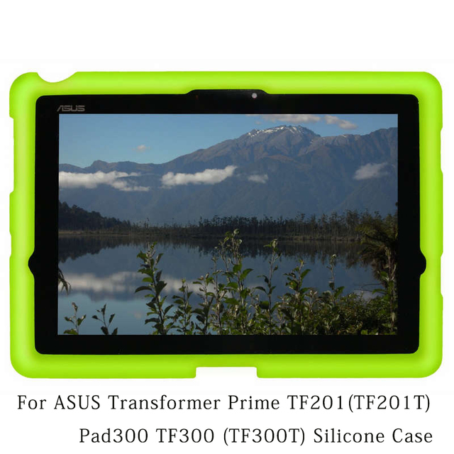 MingShore For  ASUS Pad300 TF300 TF300T Tablet Case 10.1in Silicone Cover Case For ASUS Transformer Prime TF201 TF201T Flat Case