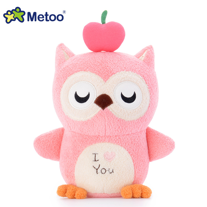 7 Inch Kawaii Plush Stuffed Animal Cartoon Kids Toys for Girls Children Baby Birthday Christmas Gift Owl Metoo Doll kawaii stuffed plush animals cartoon kids toys for girls children baby birthday christmas gift angela rabbit girl metoo doll